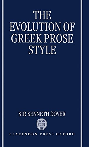 Image for The Evolution of Greek Prose Style