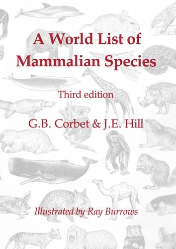 Image for A World List of Mammalian Species (Natural History Museum publications)