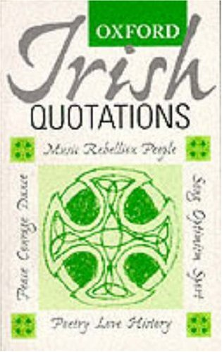 Image for Oxford Irish Quotations