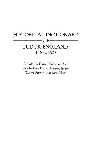 Image for Historical Dictionary of Tudor England, 1485-1603 (Archives)