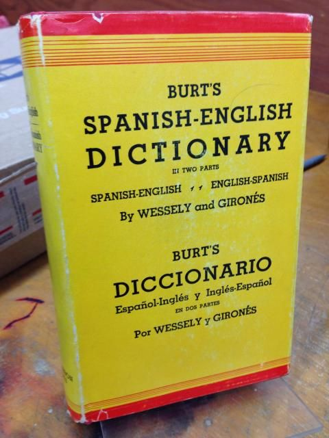 Image for Burt's Spanish-English Dictionary: In Two Parts