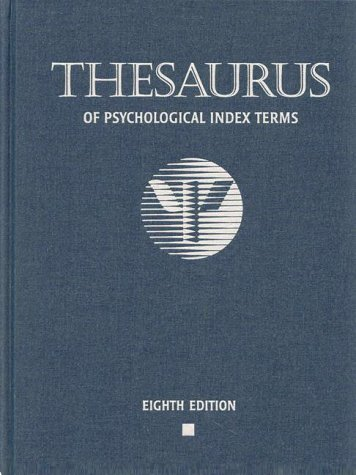 Image for Thesaurus of Psychological Index Terms
