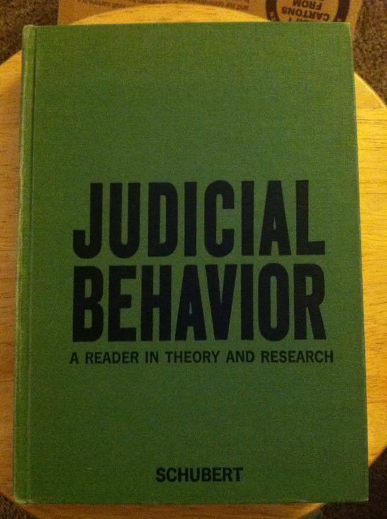 Image for Judicial Behavior; a Reader in Theory and Research