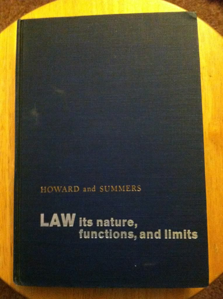 Image for Law Its Nature, functions, and Limits by Charles G. Howard, Robert S. Summers