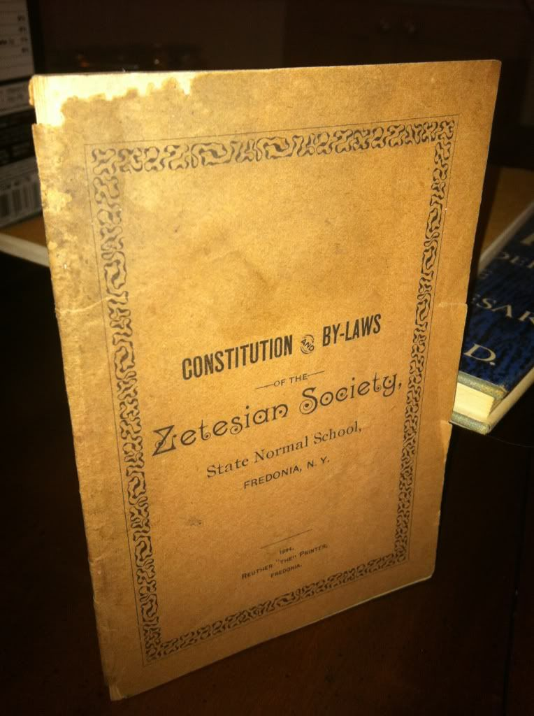Image for Constitution & By-laws of the Zetesian Society by n/a