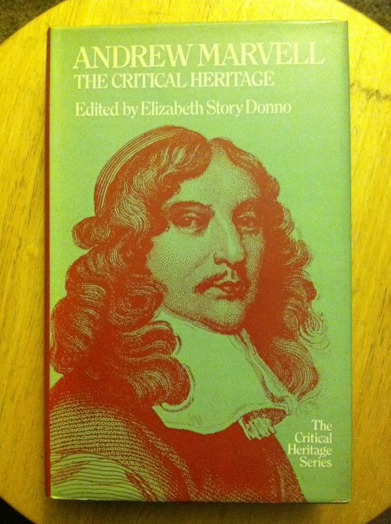 Image for Andrew Marvell, the Critical Heritage (The Critical Heritage Series)