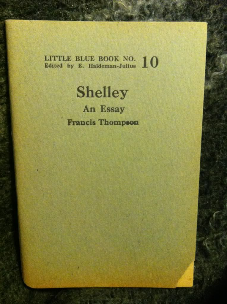 Image for Shelley: An Essay by Thompson, Francis