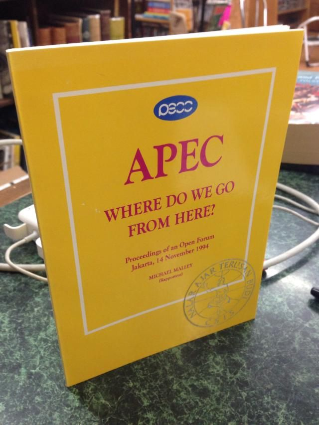 Image for APEC: Where do we go from here? : proceedings of an open forum
