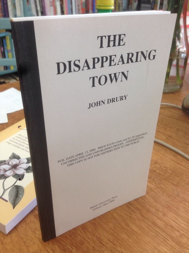 Image for The Disappearing Town by Drury, John
