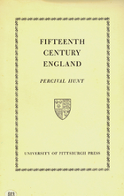 Image for Fifteenth Century England by Hunt, Percival
