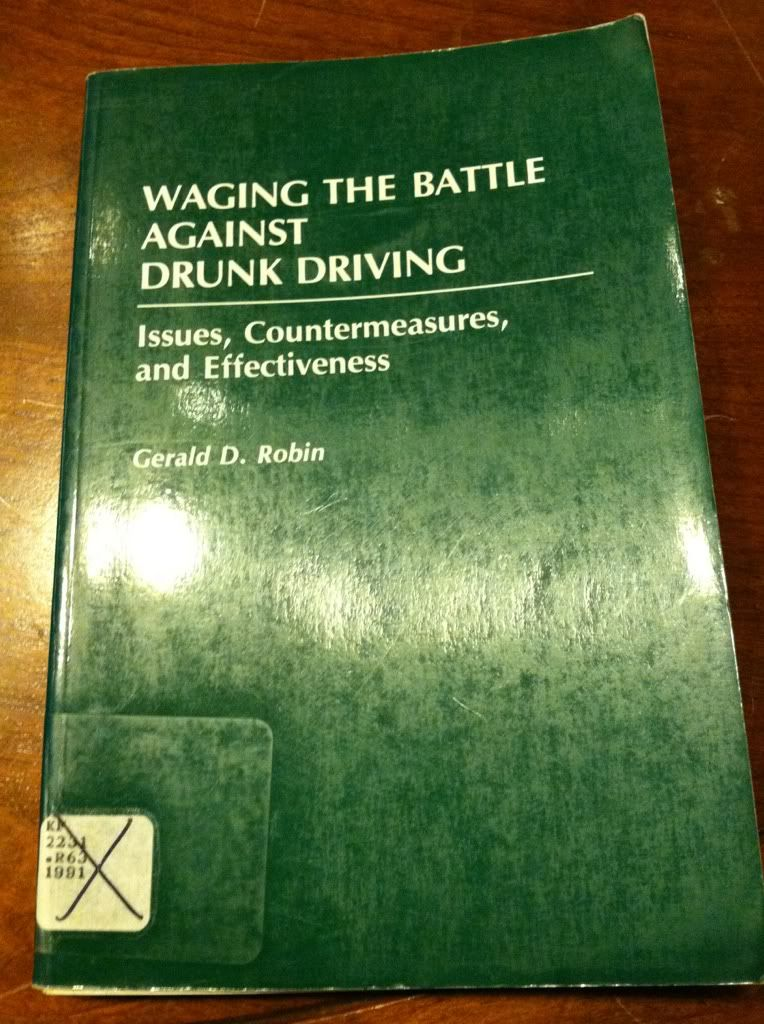 Image for Waging the Battle Against Drunk Driving: Issues, Countermeasures, and Effectiveness (Contributions in Criminology and Penology)