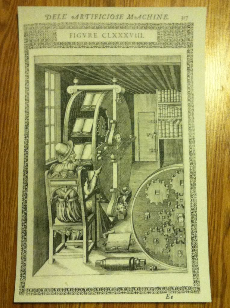 Image for Vintage Artificial Reading Machine Poster