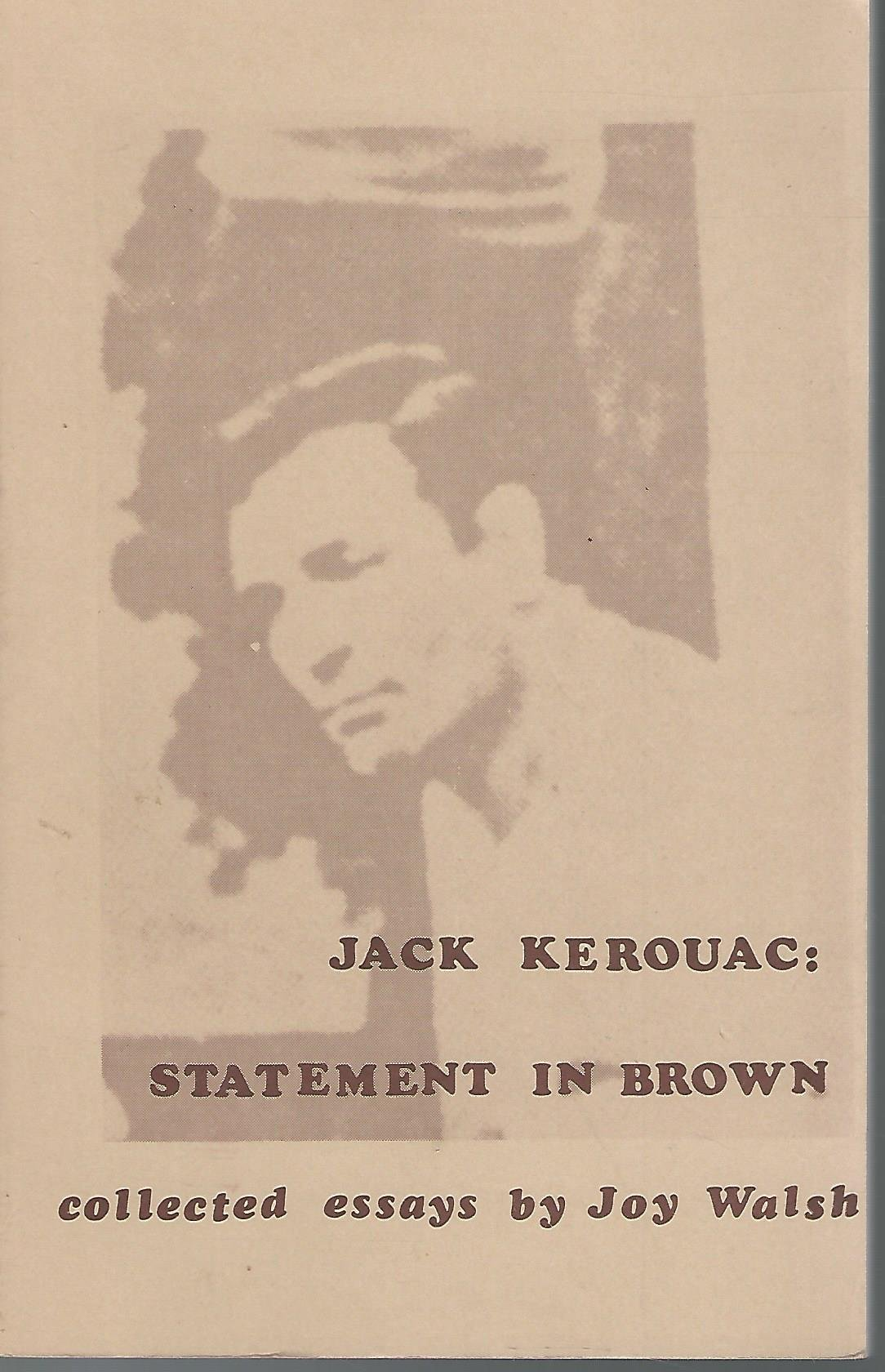 Image for Jack Kerouac: Statement in Brown (The Esprit critique series)