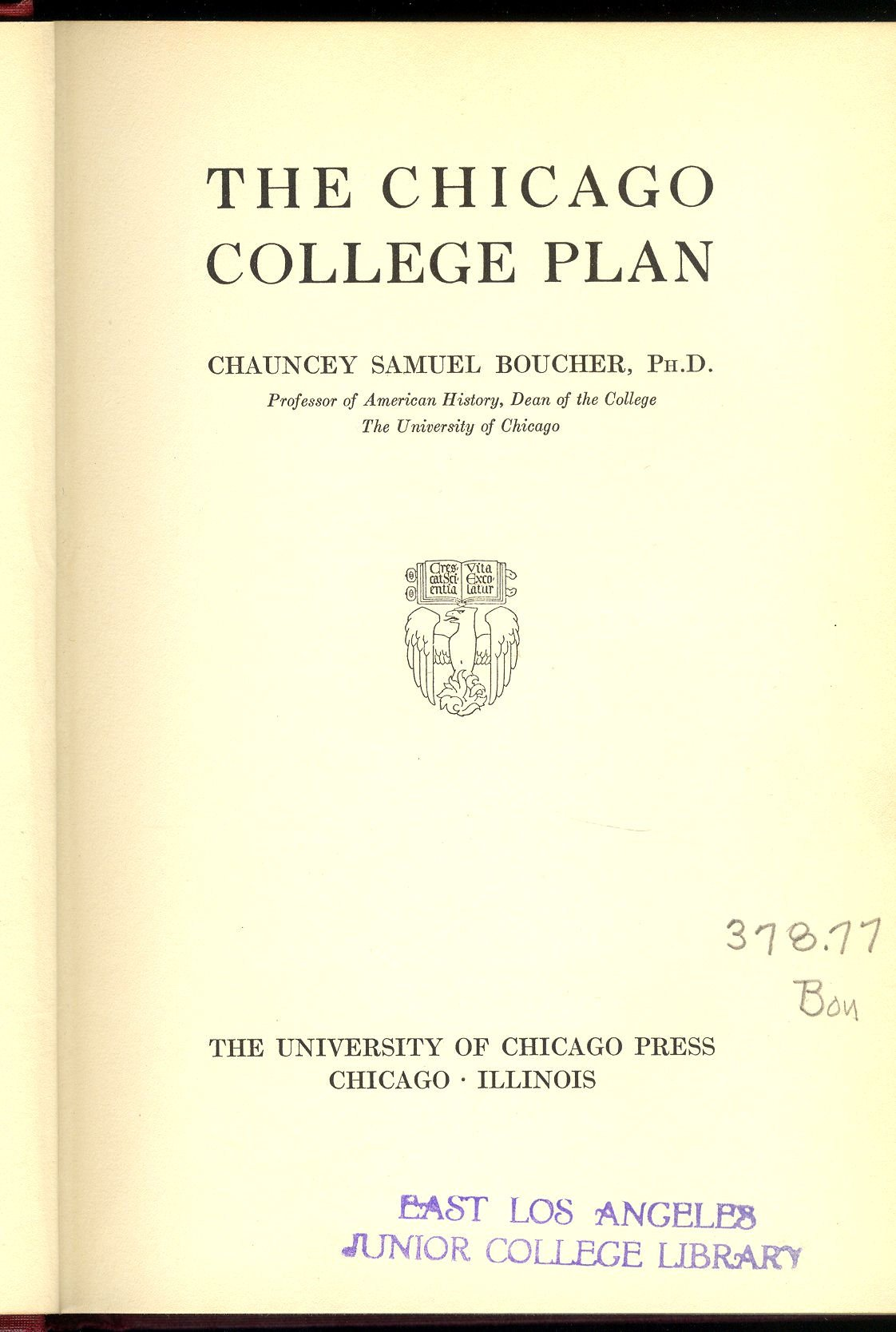 Image for The Chicago College Plan