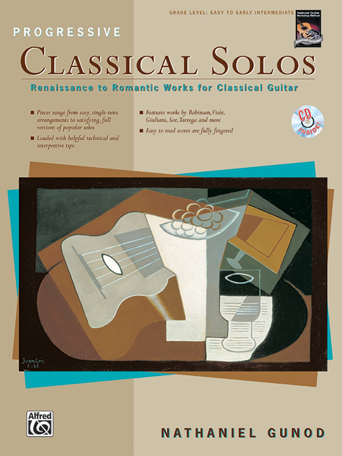 Image for Progressive Classical Solos: Renaissance to Romantic Works for Classical Guitar, Book & CD