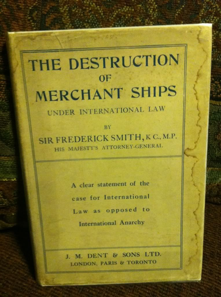 Image for The Destruction of Merchant Ships by Smith, Sir Frederick