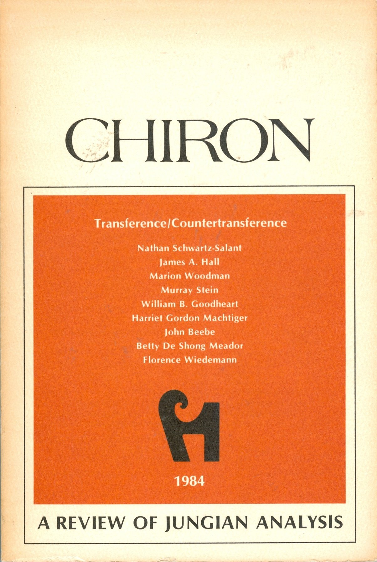Image for Chiron: Transference/Countertransference (A Review of Jungian Analysis)