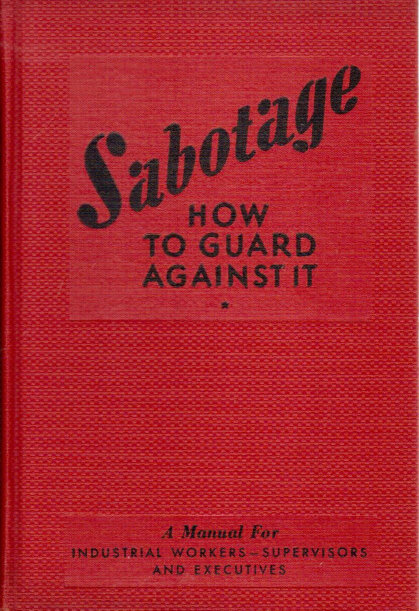 Image for Sabotage,: How to guard against it,