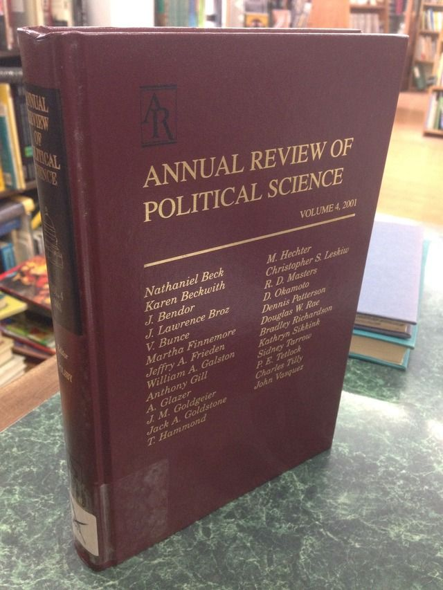 Image for Annual Review of Political Science, Vol. 4, 2001