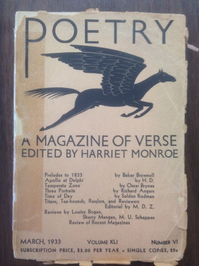 Image for Poetry: A Magazine of Verse, Volume Vol. XLI, No. VI [March 1933]