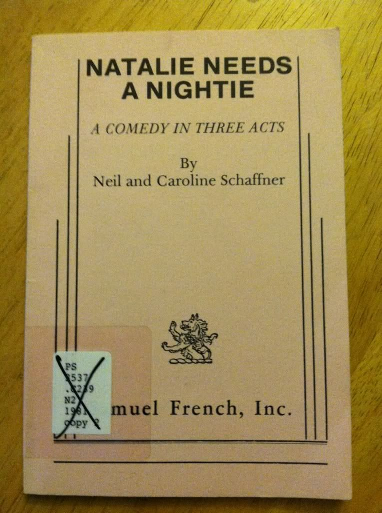 Image for NATALIE NEEDS A NIGHTIE a Comedy in Three Acts