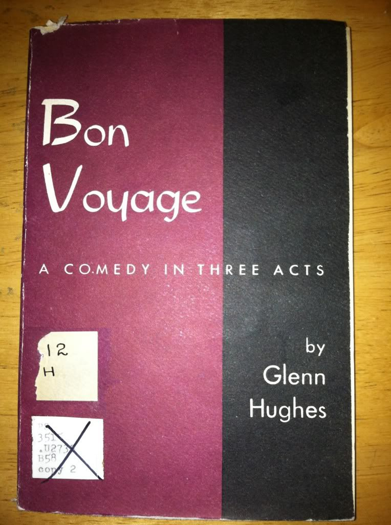 Image for Bon Voyage: a Comedy in Three Acts