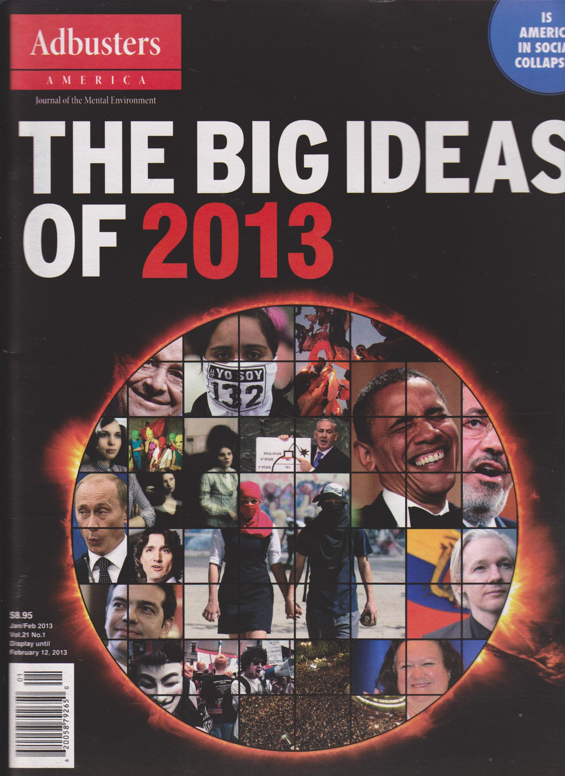 Image for Adbusters America Magazine January/February 2013 (The Big Ideas of 2013)