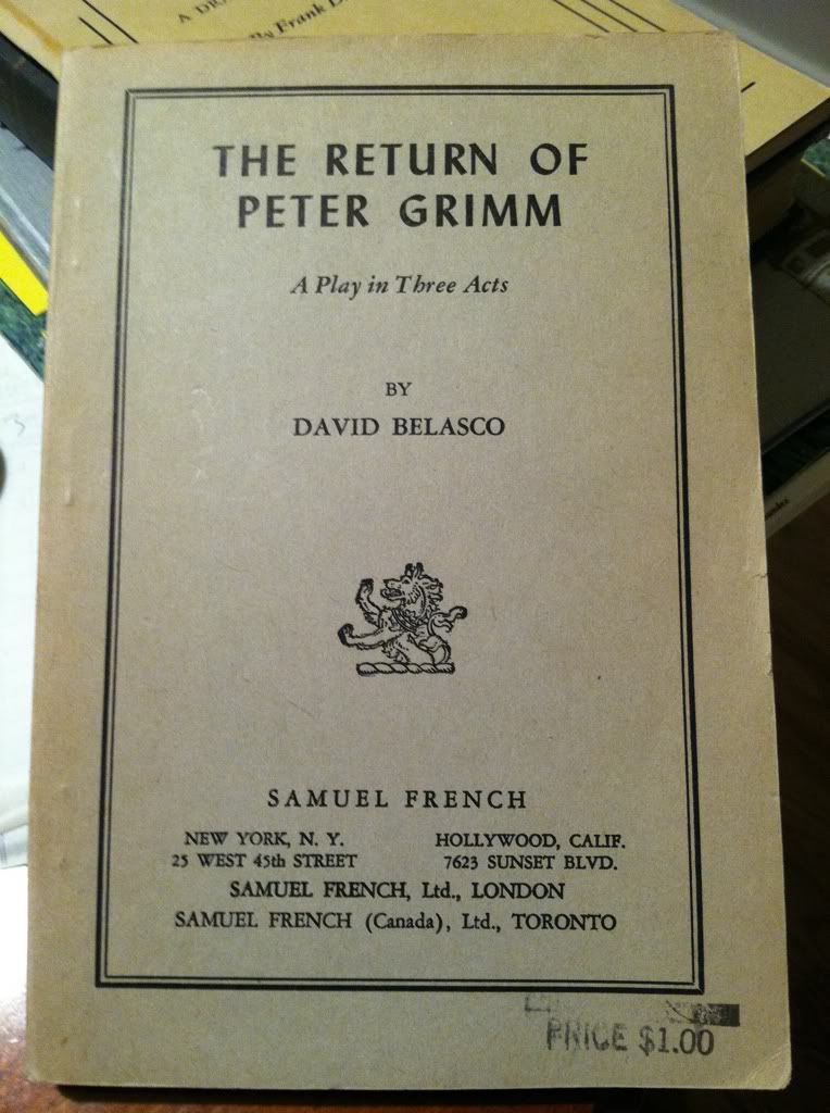 Image for The Return of Peter Grimm, a play in three acts by Belasco, David