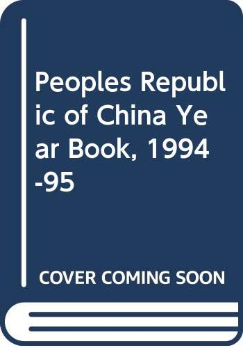 Image for Peoples Republic of China Year Book, 1994-95