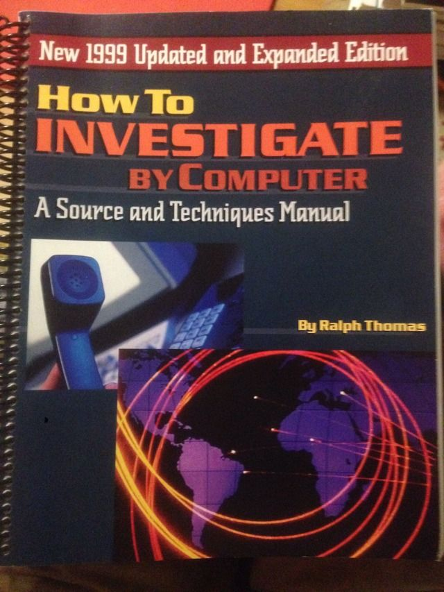 Image for How to Investigate by Computer: 1999