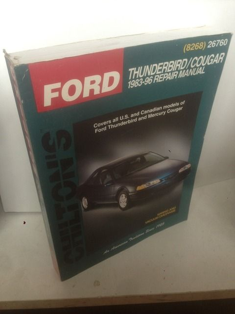 Image for Ford: Thunderbird/Cougar 1983-96 (Chilton's Total Car Care Series)