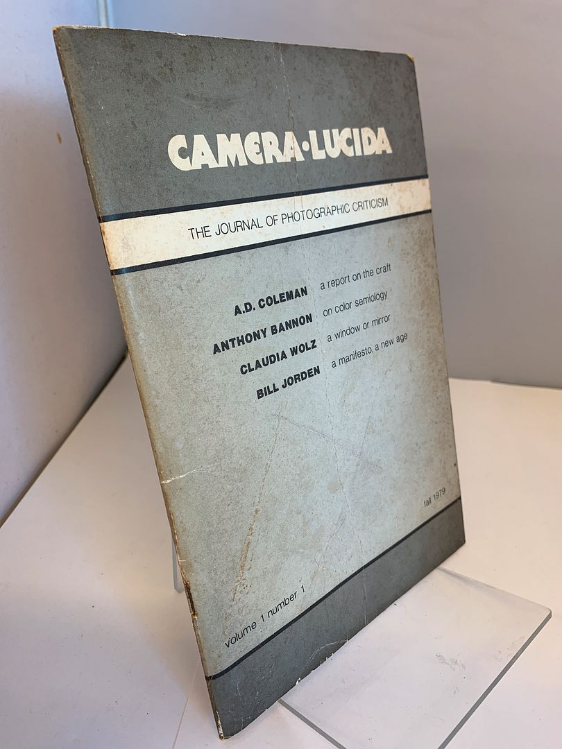 Image for Camera Lucida: The Journal of Photographic Criticism (Volume 1, Number 1)