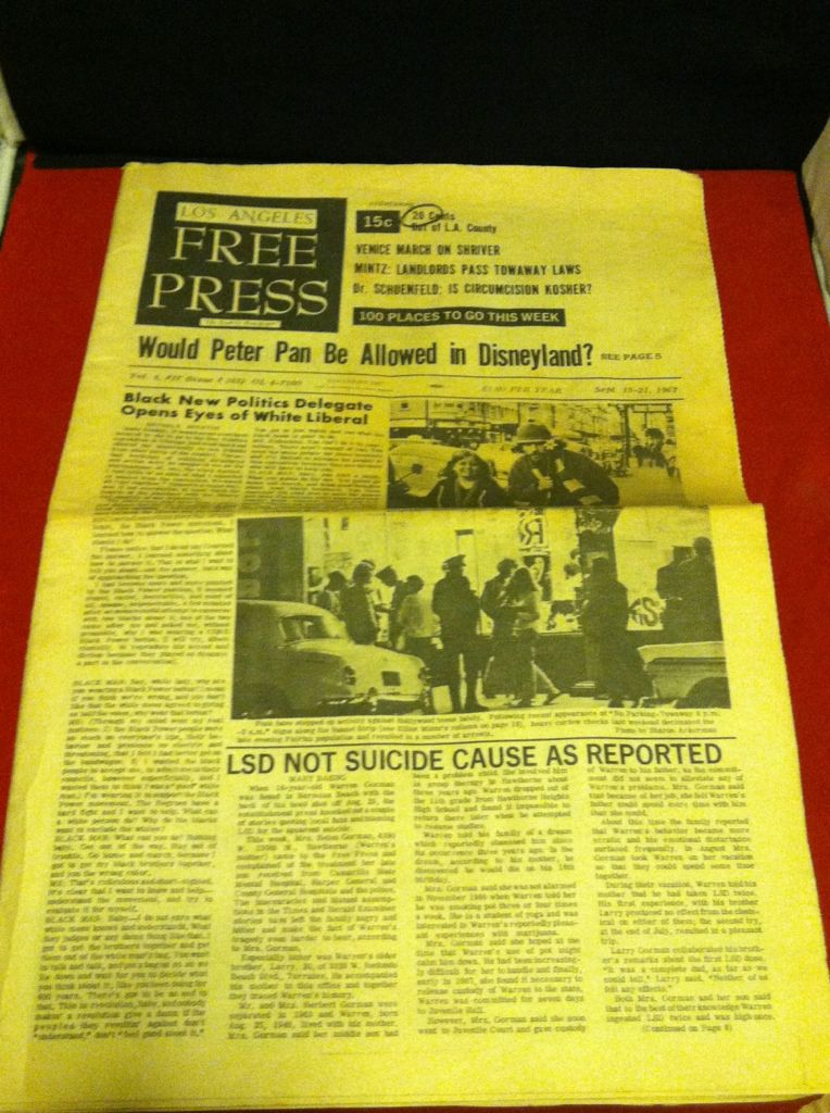 Image for Los Angeles Free Press Vol 4, #37 Sept. 15-21, 1967