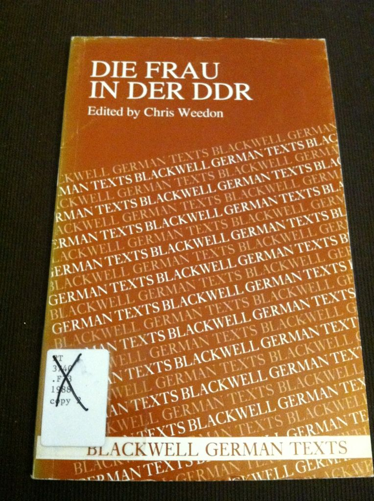 Image for Die Frau in der DDR (German Texts)