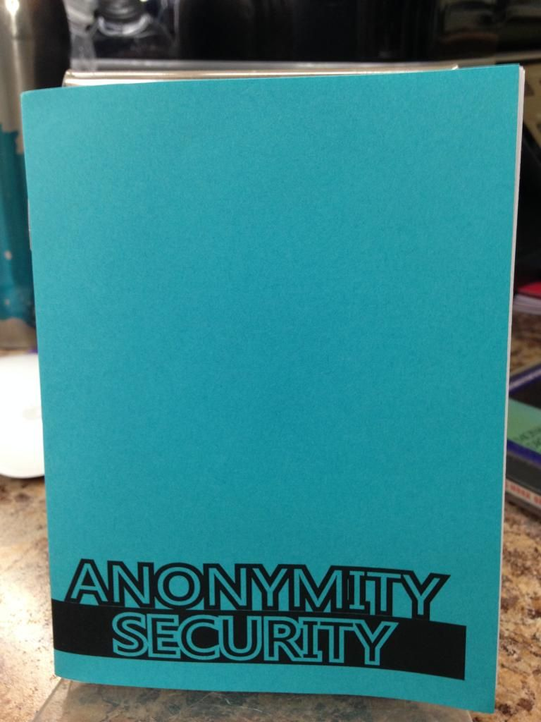 Image for Anonymity/Security by Anonymous