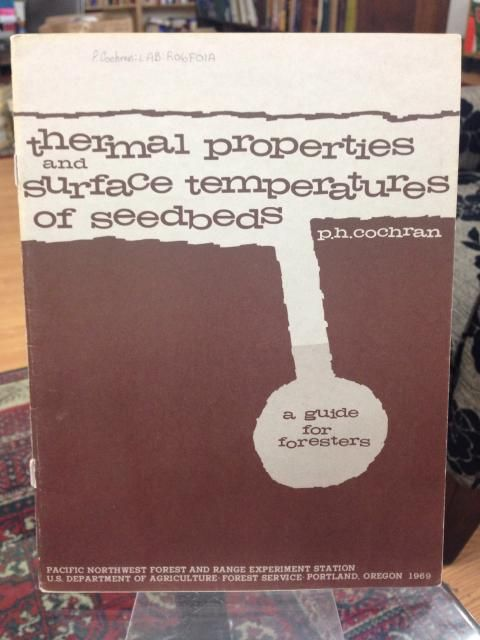 Image for Thermal Properties and Surface Temperatures of Seedbeds