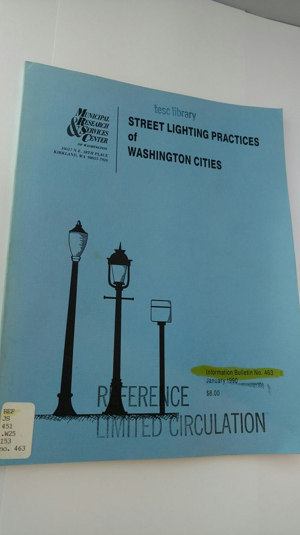 Image for Street Lighting Practices of Washington Cities by Municipal Research & Services Center