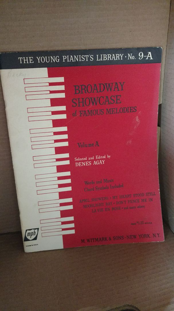 Image for Broadway Showcase of Famous Melodies - Volume a - The Young Pianist's Library - No. 9-a