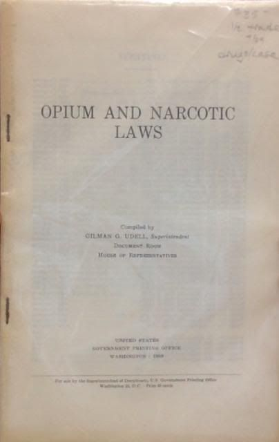 Image for Opium and Narcotic Laws