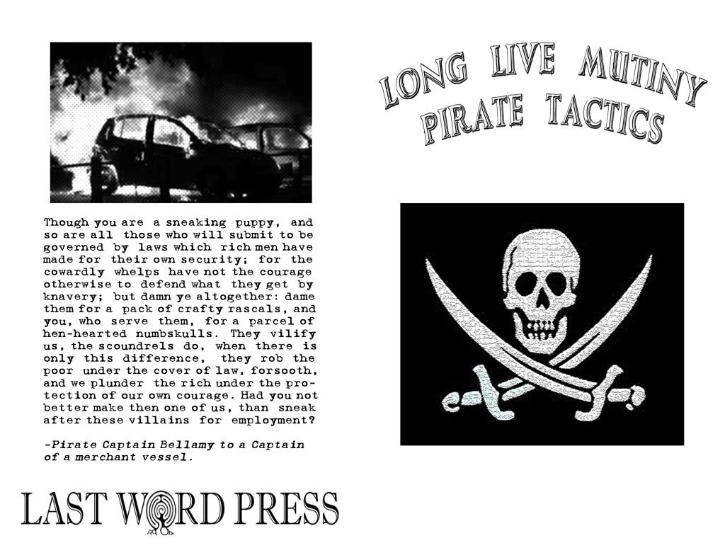 Image for Long Live Mutiny! Pirate Tactics by compiled and pirated by Cap'n Mayhem of the Drunken Boat Crew by compiled and pirated by Cap'n Mayhem of the Drunken Boat Crew by compiled and pirated by Cap'n Mayhem of the Drunken Boat Crew