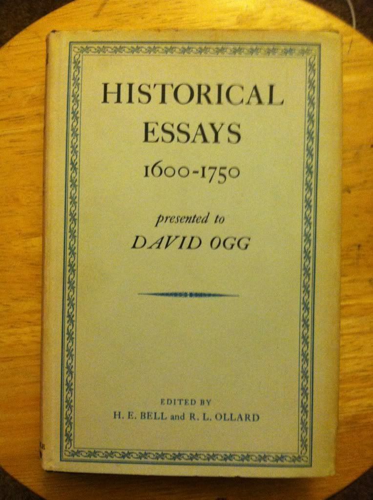 Image for Historical Essays 1600-1750