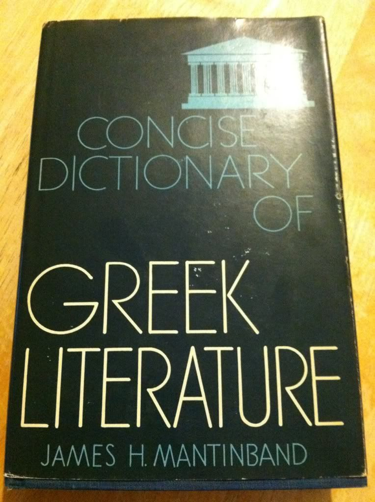 Image for Concise Dictionary of Greek Literature by Mantinband, James H