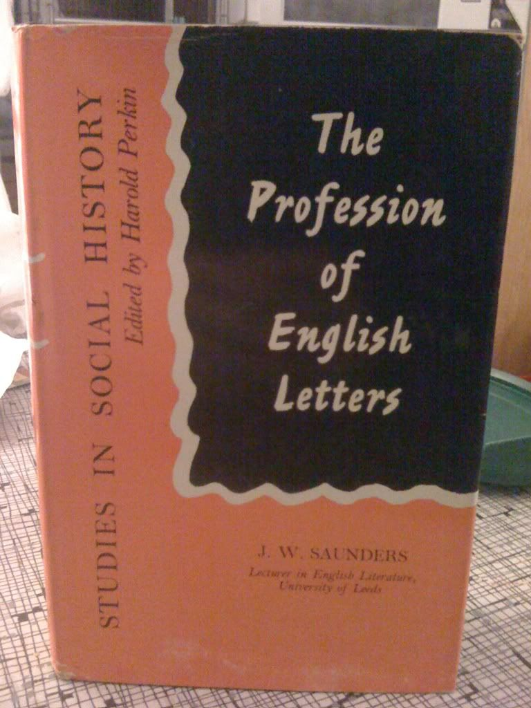 Image for The Profession of English Letters by J. W. SAUNDERS