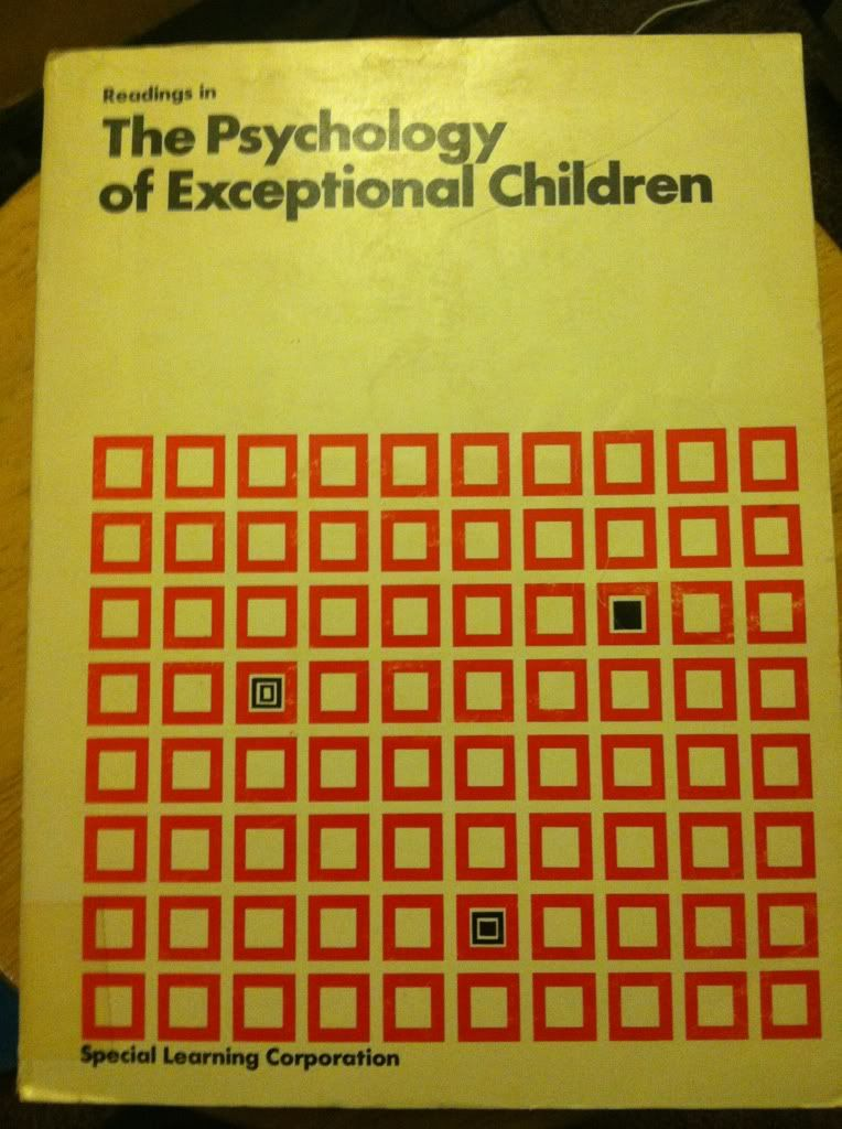Image for Readings in the Psychology of Special Children