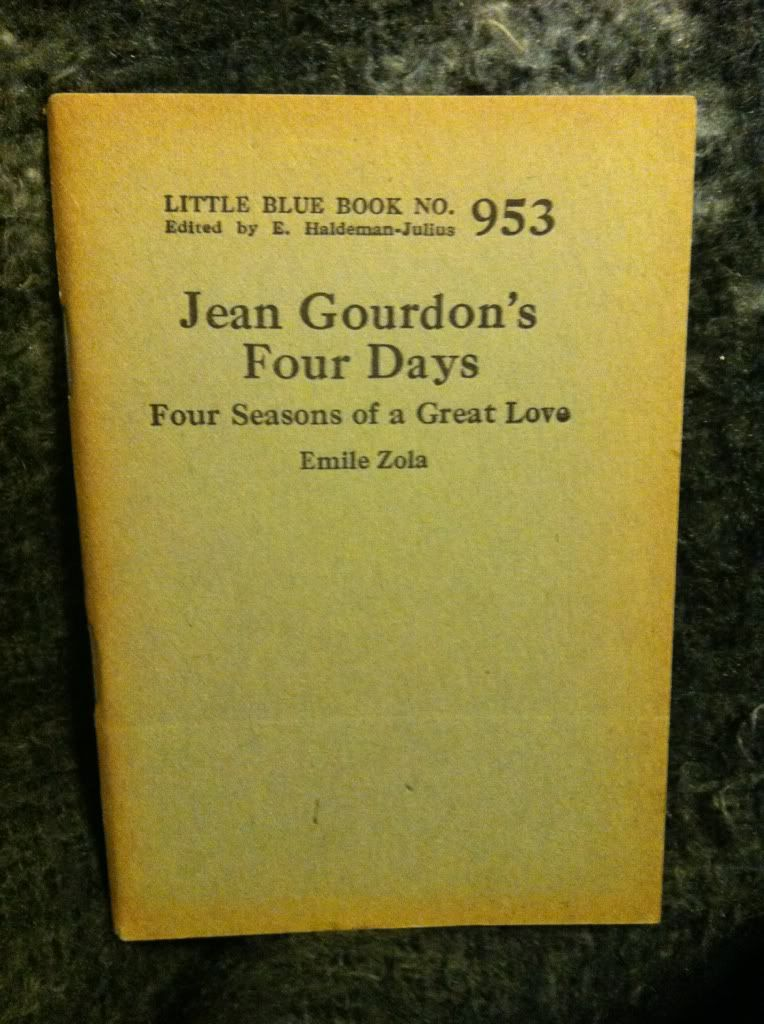 Image for Jean Gourdon's Four Days: Four Seasons of a Great Love (Little Blue Book No. 953) by Zola, Emile