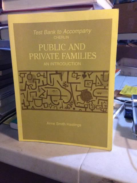 Image for Test Bank to Accompany Public and Private Families: An Introduction by Hastings, Anne Smith & Cherlin