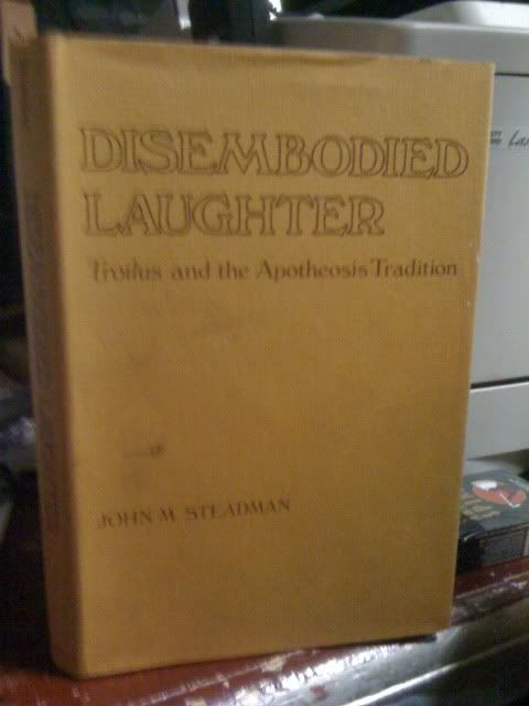 Image for Disembodied Laughter: Troilus and the Apotheosis Tradition by Steadman, John M.